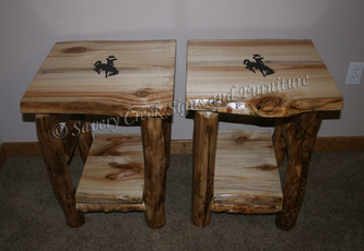 Log End Tables Tables Savery Creek Furniture - How to build an end table
